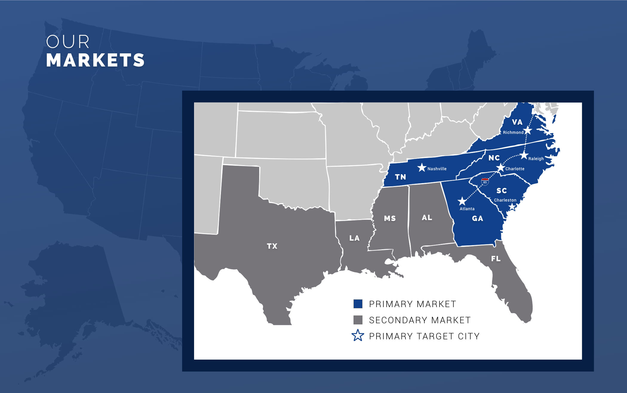 Abacus Capital Real Estate Investors Southeastern United States Target Market